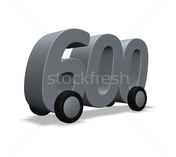 six hundred on wheels Stock photo © drizzd