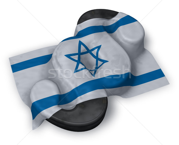 paragraph symbol and flag of israel - 3d rendering Stock photo © drizzd