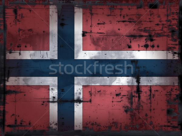 Zdjęcia stock: Norwegia · banderą · grunge · Europie · kraju