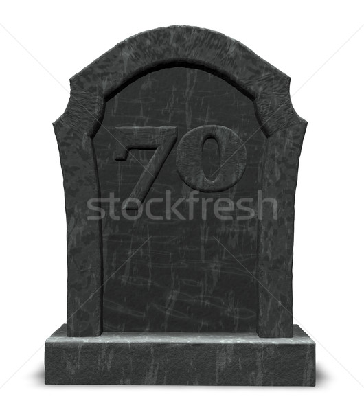 number seventy on gravestone Stock photo © drizzd