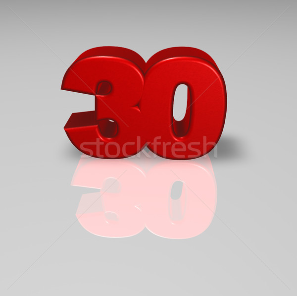 red number thirty Stock photo © drizzd