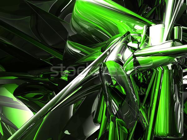 クロム 混沌 未来的な 金属 3次元の図 ストックフォト © drizzd