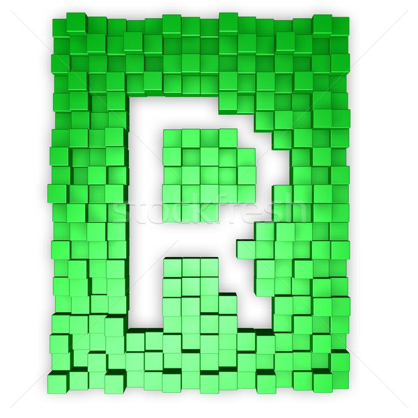 cubes makes the letter r Stock photo © drizzd