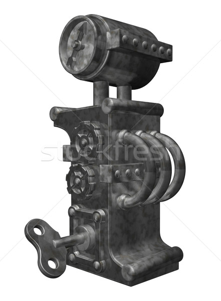 Steampunk lettre i blanche 3d illustration horloge Photo stock © drizzd