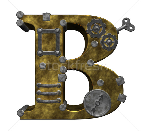 Steampunk lettre blanche 3d illustration horloge technologie Photo stock © drizzd