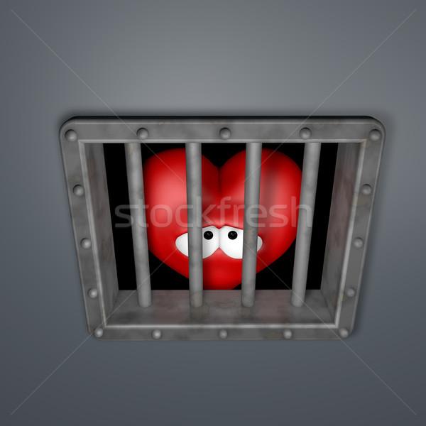 heart in prison Stock photo © drizzd