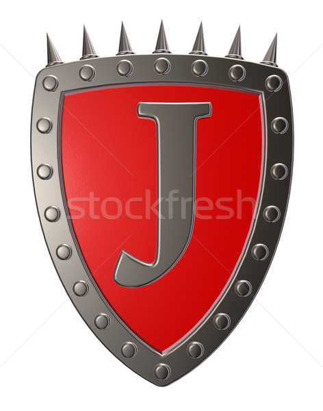 shield with letter j Stock photo © drizzd