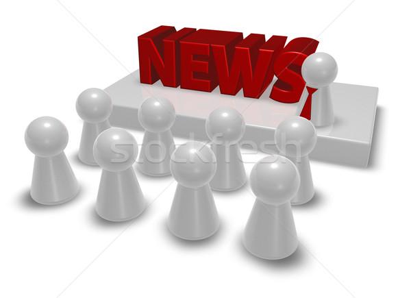 news speaker Stock photo © drizzd
