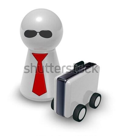 Tok játék nyakkendő nap szemüveg 3d illusztráció Stock fotó © drizzd