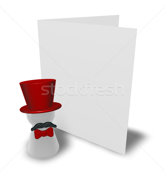 ringmaster and card Stock photo © drizzd
