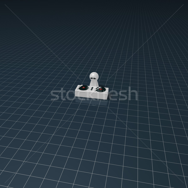 Stock photo: disc jockey on turntables - 3d rendering