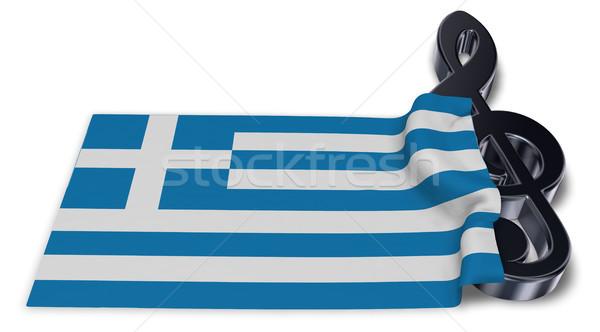 Bandera 3D clave jugar país Foto stock © drizzd