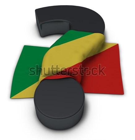 Vraagteken regenboog vlag 3d illustration helpen homo Stockfoto © drizzd