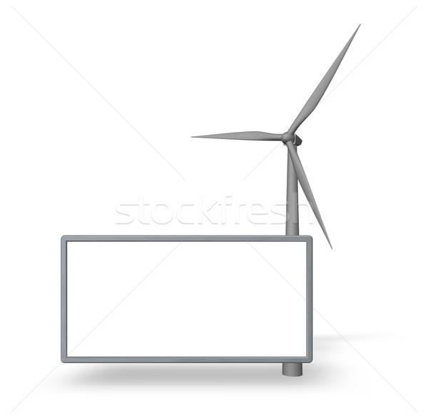 風 エネルギー ジェネレータ ボード コンテンツ 3次元の図 ストックフォト © drizzd