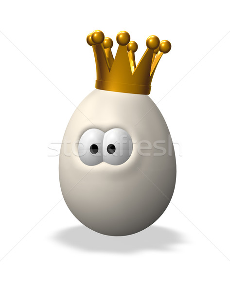 easter egg with crown Stock photo © drizzd