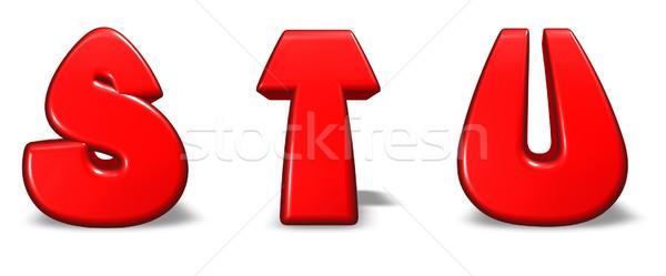 Cartoon cartas rojo blanco 3d escuela Foto stock © drizzd
