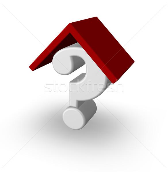質問 ポイント 屋上 疑問符 白 3次元の図 ストックフォト © drizzd