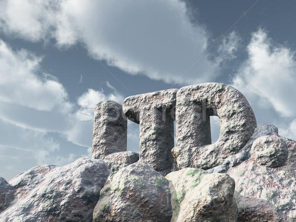 Kaya bulutlu gökyüzü 3D bulutlar Stok fotoğraf © drizzd