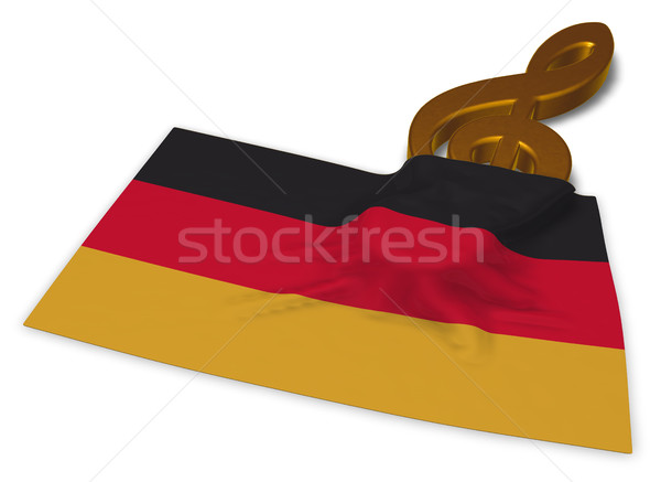clef symbol and german flag - 3d rendering Stock photo © drizzd