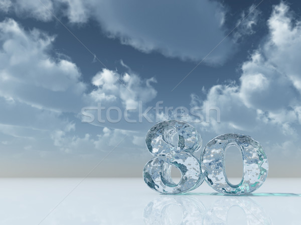 cool eighty Stock photo © drizzd