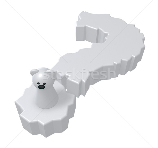 polar bear question Stock photo © drizzd