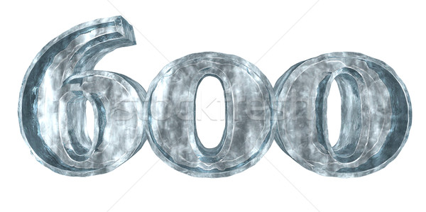 frozen six hundred - 3d rendering Stock photo © drizzd