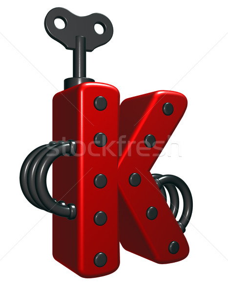 letter k with decorative pieces - 3d rendering Stock photo © drizzd