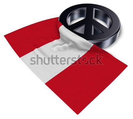 Feminino símbolo bandeira 3D mulher Foto stock © drizzd