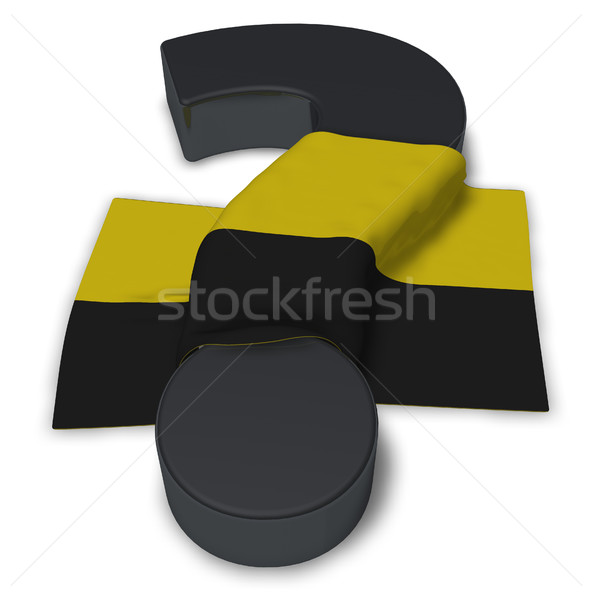 question mark and flag of saxony-anhalt - 3d illustration Stock photo © drizzd
