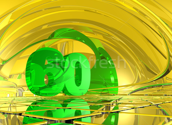 Aantal zestig abstract spiegel ruimte 3d illustration Stockfoto © drizzd