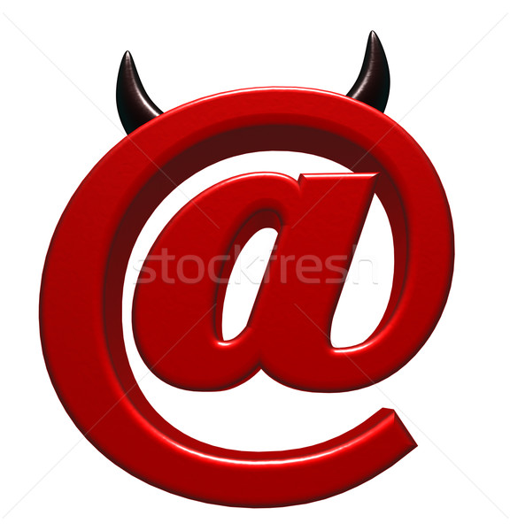 evil email symbol Stock photo © drizzd