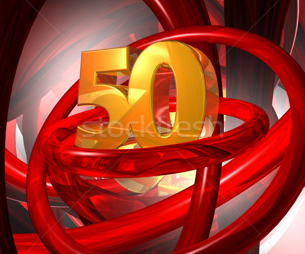 пятьдесят числа аннотация футуристический пространстве Сток-фото © drizzd