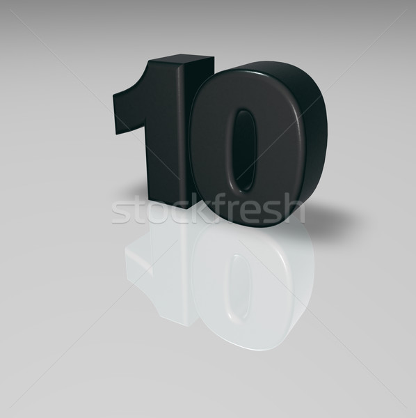 number ten Stock photo © drizzd