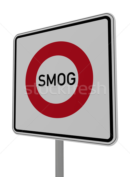 Smog witte 3d illustration aarde industrie Stockfoto © drizzd