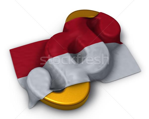 Absatz Symbol Flagge Monaco 3D Rendering Stock foto © drizzd