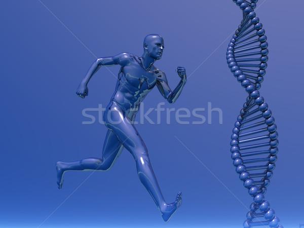 Dna corrida homem ilustração 3d médico natureza Foto stock © drizzd