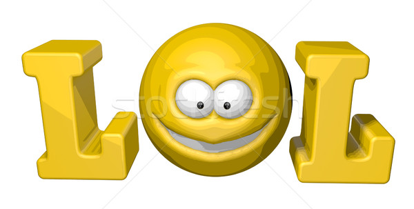 笑 シンボル 言葉 スマイリー 3次元の図 コンピュータ ストックフォト © drizzd