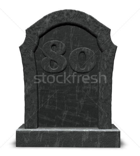 number eighty on gravestone Stock photo © drizzd