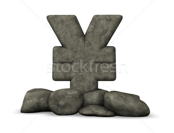 石 円 シンボル 白 3次元の図 お金 ストックフォト © drizzd