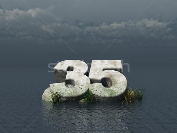 тридцать пять числа океана 3d иллюстрации природы Сток-фото © drizzd