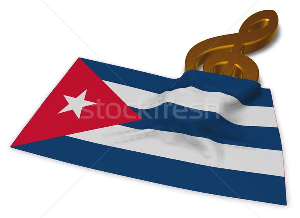 символ флаг Куба 3D знак Сток-фото © drizzd