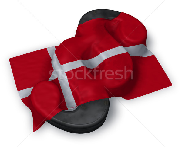 paragraph symbol and danish flag - 3d illustration Stock photo © drizzd