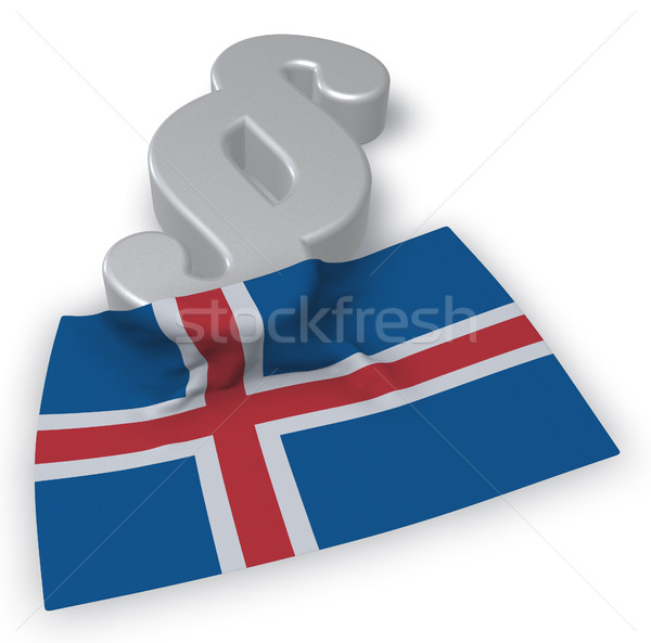 paragraph symbol and flag of iceland - 3d rendering Stock photo © drizzd