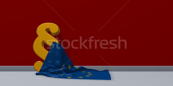 Absatz Symbol Flagge Union 3D Stock foto © drizzd