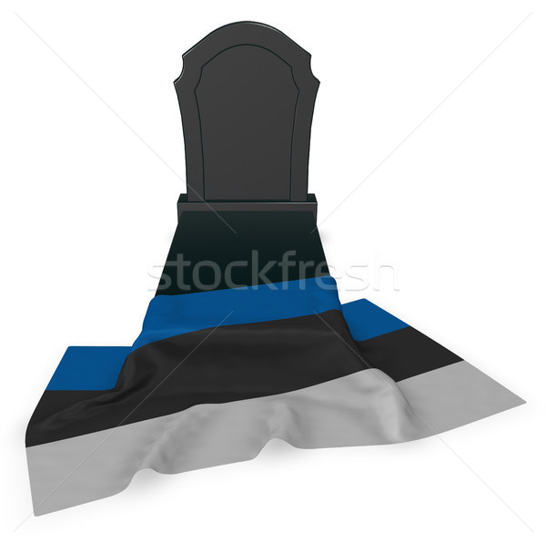 gravestone and flag of estonia - 3d rendering Stock photo © drizzd
