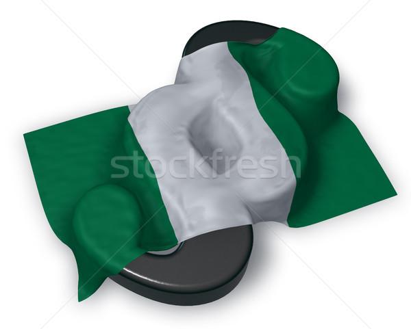 Pavillon Nigeria paragraphe symbole 3d illustration droit Photo stock © drizzd