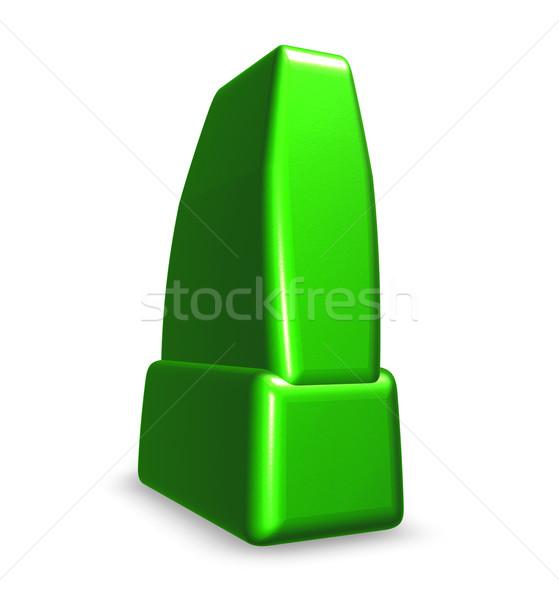Wykrzyknik biały 3d ilustracji podpisania tłuszczu informacji Zdjęcia stock © drizzd