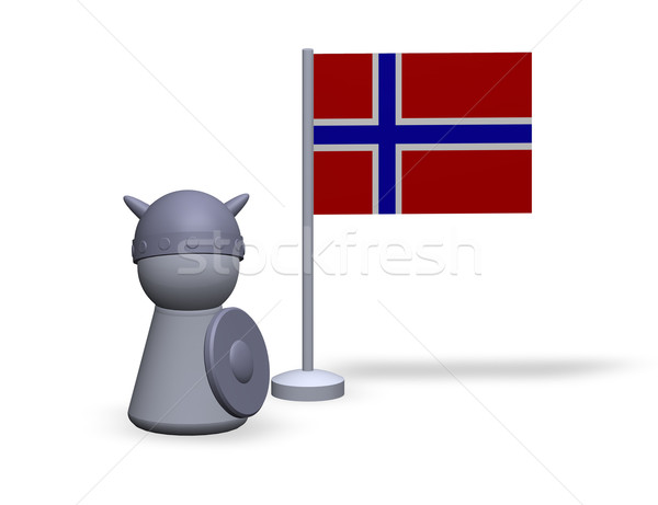 norway viking Stock photo © drizzd