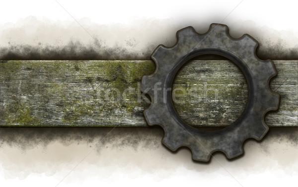 gear wheel banner  Stock photo © drizzd