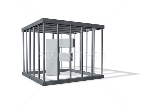 big F in jail Stock photo © drizzd